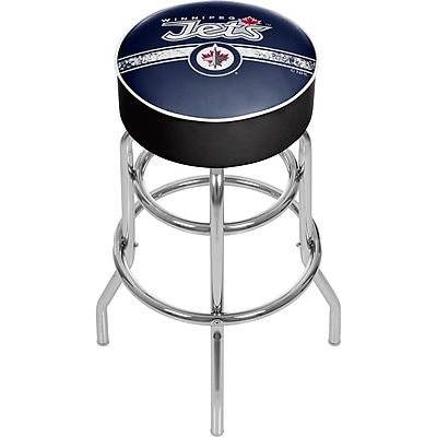 NHL Chrome Bar Stool with Swivel - Winnipeg Jets® (NHL1000-WJ2)