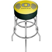 University of Oregon Chrome Bar Stool with Swivel - Wings (ORG1000-WINGS)