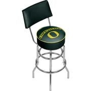 University of Oregon Swivel Bar Stool with Back (ORG1100-DUCK)