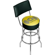 University of Oregon Swivel Bar Stool with Back - Wings (ORG1100-WINGS)