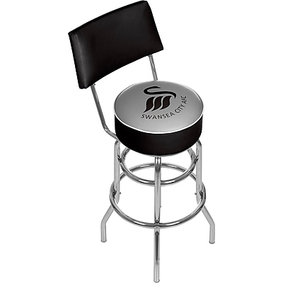 Premier League Swansea City Swivel Bar Stool with Back (EPL1100-SC)