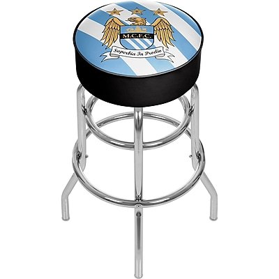 Premier League Manchester City Chrome Bar Stool with Swivel (EPL1000-MC)