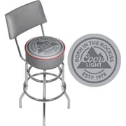 Coors Light Swivel Bar Stool with Back (CL1100-RL)