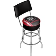 University of Georgia Swivel Bar Stool with Back - Text (GA1100-TXT)