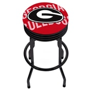 University of Georgia Black Ribbed Bar Stool - Wordmark (GA1006-WM)