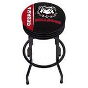 University of Georgia Black Ribbed Bar Stool - Text (GA1006-TXT)