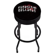 University of Georgia Black Ribbed Bar Stool - Smoke (GA1006-SMOKE)