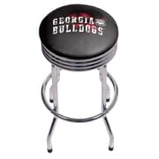 University of Georgia Chrome Ribbed Bar Stool - Smoke (GA1005-SMOKE)