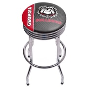 University of Georgia Chrome Ribbed Bar Stool - Text (GA1005-TXT)