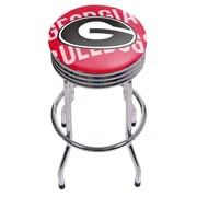 University of Georgia Chrome Ribbed Bar Stool - Wordmark (GA1005-WM)