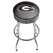 University of Georgia Chrome Ribbed Bar Stool - Reflection (GA1005-REF)