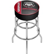 University of Georgia Padded Swivel Bar Stool - Text (GA1000-TXT)