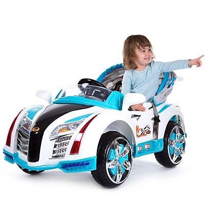 Lil' Rider Pre-assembled Battery Operated Car with Canopy - Blue (80-KB00003B)