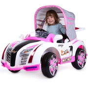 Lil' Rider Pre-assembled Battery Operated Car with Canopy - Pink (80-KB00003P)