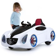 Lil' Rider Pre-assembled 12V Battery Operated Sports Car - White (80-KB20985W)