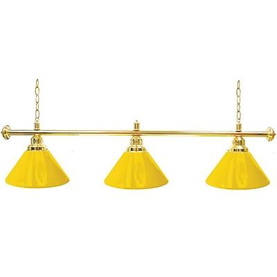 Premium 3 Shade Billiard Lamp Yellow and Gold (603G-YEL)