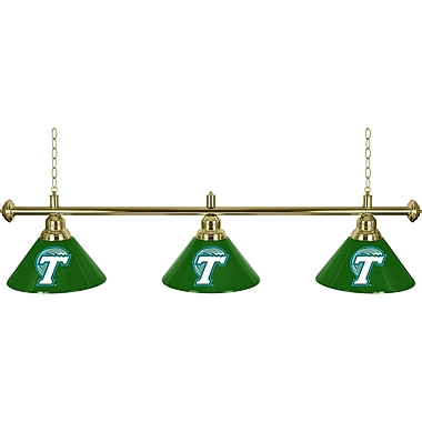 Tulane University 3 Shade Billiard Lamp (CLC603-TUL)
