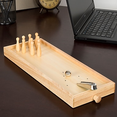 Hey! Play! Tabletop Wooden Bowling Game (12-HY2395)