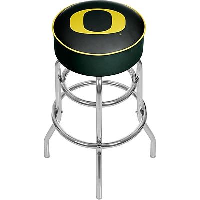 University of Oregon Chrome Bar Stool with Swivel - Carbon Fiber (ORG1000-CBN)