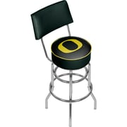 University of Oregon Swivel Bar Stool with Back - Carbon Fiber (ORG1100-CBN)