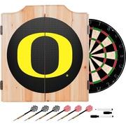 University of Oregon Wood Dart Cabinet Set - Carbon Fiber (ORG7000-CBN)