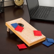 Hey! Play! Tabletop Cornhole Game - Football Field Theme (12-HY2738)