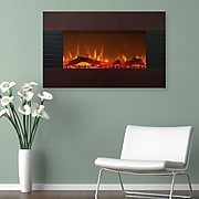 """Northwest 36"""" Mahogany Fireplace with Wall Mount & Floor Stand (80-422S)"""
