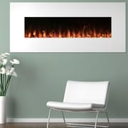 "Northwest 50"" White Electric Fireplace Color Changing Wall Mount (80-WSG02)"