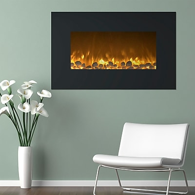 "Northwest 36"" Fireplace Color Changing Wall Mount Floor Stand (80-WSG03)"