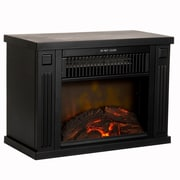 "Northwest 13"" Portable Mini Electric Fireplace Heater - Black (80-EF480-B)"