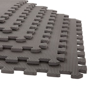 "Stalwart 6 Pack Interlocking EVA Foam Floor Mats Gray 24""x24""x0.375"" (M550033)"