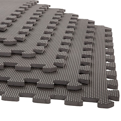 Stalwart 6 Pack Interlocking EVA Foam Floor Mats Gray 24