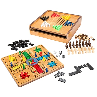 Hey! Play! 7-in-1 Combo Game - Chess, Ludo, Chinese Checkers & More (M350001)