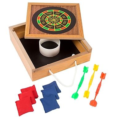 Hey! Play! Tabletop Bean Bag Toss & Magnetic Dart Game Set (12-HY2782)