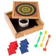 Hey! Play! Tabletop Bean Bag Toss & Magnetic Dart Game Set (12-HY2782)