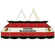 "NHL Handmade 40"" Tiffany Style Lamp Chicago Blackhawks® (NHL4000-CBH2)"