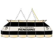 "NHL Handmade 40"" Tiffany Style Lamp Pittsburgh Penguins® (NHL4000-PP2)"