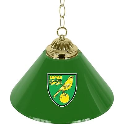 Premier League Norwich City Single Shade Brass Bar Lamp (EPL1200-NC)