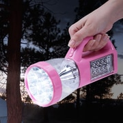 Wakeman Outdoors 3-in-1 LED Camping Lantern Flashlight - Pink (75-CL1001)