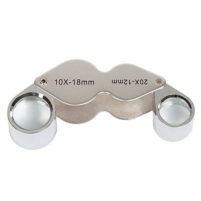 Stalwart 10x and 20x Dual Jewelers Eye Loupe Magnifier with Case (M550004)