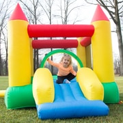 Hey! Play! Inflatable Castle Bounce House with Slide (M420003)