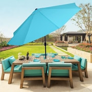 Pure Garden 10 Foot Aluminum Patio Umbrella with Auto Tilt - Blue (M150002)