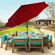 Pure Garden 10 Foot Aluminum Patio Umbrella with Auto Tilt - Red (M150003)