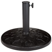 Pure Garden 19-Pound Round Black Ornate Umbrella Base (M150011)