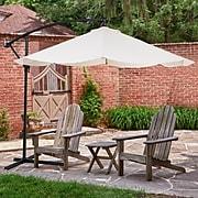 Pure Garden Offset 10' Aluminum Hanging Patio Umbrella - Tan (M150010)