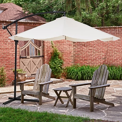Pure Garden Offset 10' Aluminum Hanging Patio Umbrella - Tan (M150010)