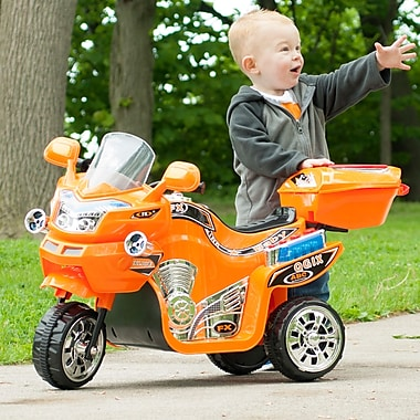Lil' Rider 3 Wheel Battery Powered FX Sport Bike - Orange (80-109O)