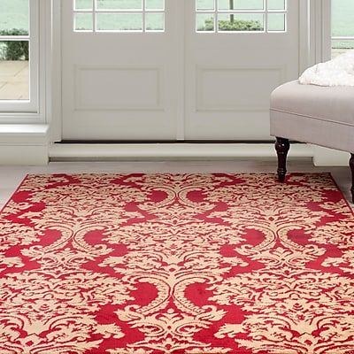 Lavish Home Oriental Area Rug - Red & Gold - 4'x6' (62-024-46)