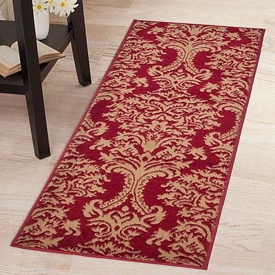 Lavish Home Oriental Rug - Red & Gold - 1'8