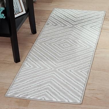 Lavish Home Kaleidoscope Rug - Grey & White - 1'8
